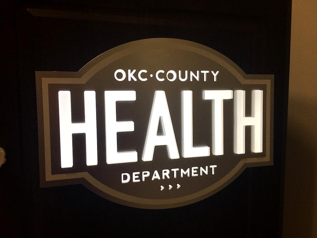 Custom Specialty Sign For Okc Health Department Podium